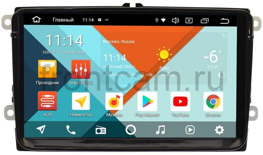 Штатная магнитола Volkswagen Amarok, Golf, Jetta, Passat, Polo, Scirocco, Tiguan, Touran Wide Media MT9001PK-2/16 на Android 9.1 (DSP 3G-SIM) (+ Камера заднего вида в подарок!)