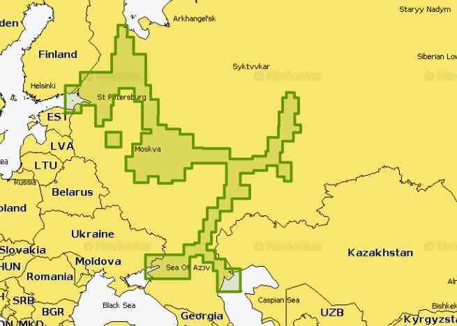 Карта Navionics Plus 52 XG на карте 8 Гб