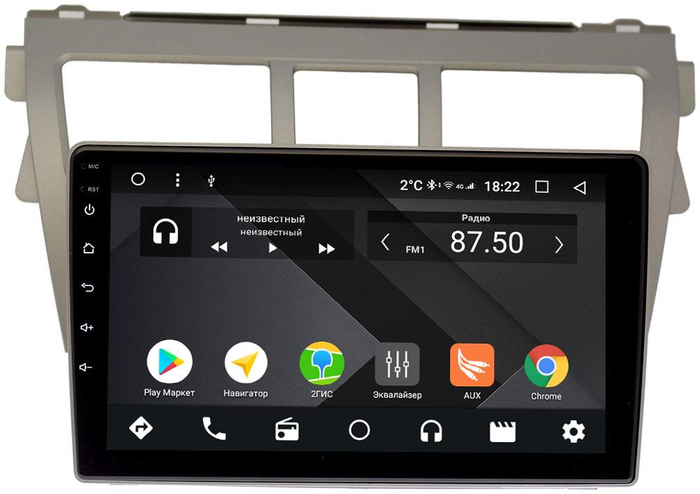 Штатная магнитола Toyota Belta 2005-2012 Wide Media CF9068-OM-4/64 на Android 9.1 (TS9, DSP, 4G SIM, 4/64GB) (+ Камера заднего вида в подарок!)