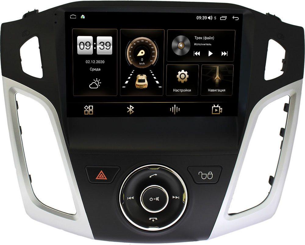Штатная магнитола Ford Focus III 2011-2018 LeTrun 3792-9126 на Android 10 (4/64, DSP, QLed) С оптическим выходом (+ Камера заднего вида в подарок!)