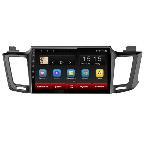 Головное устройство Subini TOY105 с экраном 102 для Toyota Rav 4 IV 2012 + (+ Камера заднего вида в подарок!).
