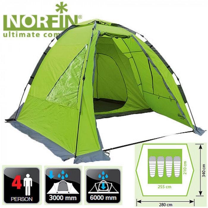 Палатка автоматическая 4-х местная Norfin ZANDER 4 NF