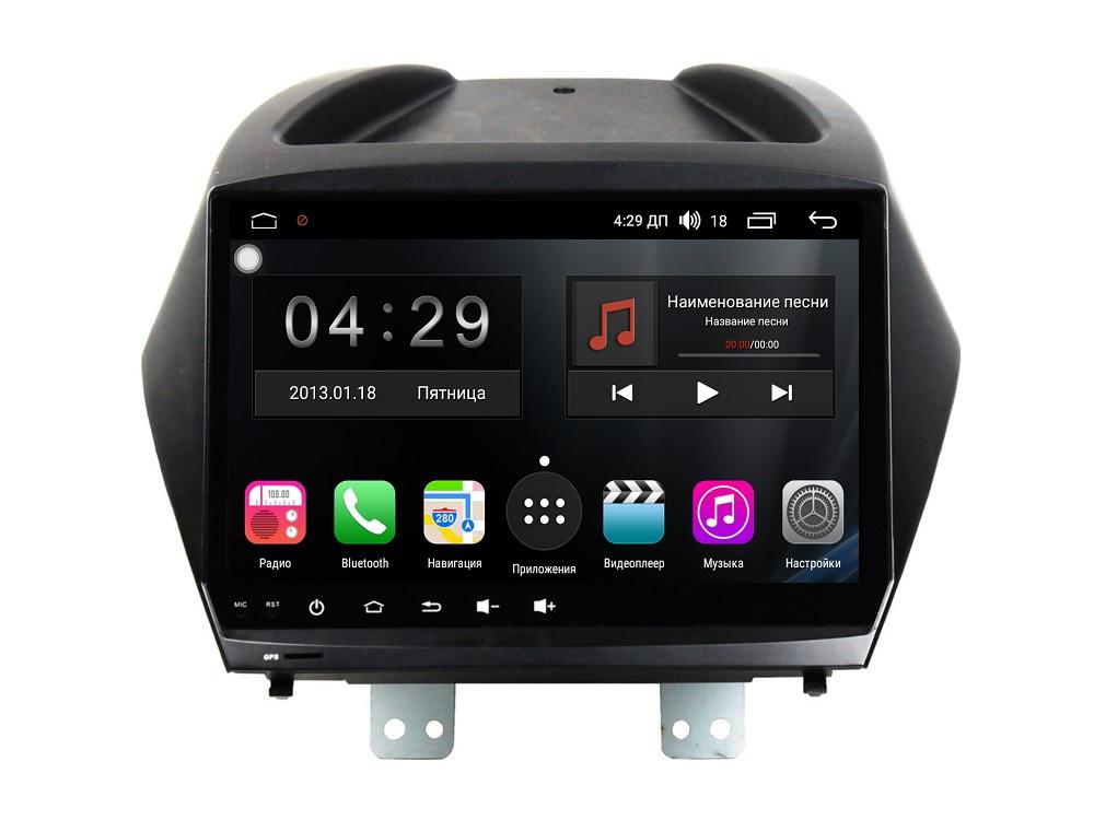 Штатная магнитола FarCar s200+ для Hyundai ix35 на Android (A361R) штатная магнитола farcar s200 для hyundai tucson на android v546r dsp