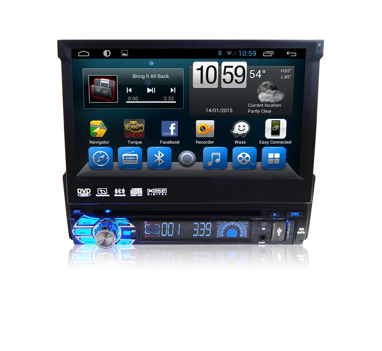Штатная магнитола CARMEDIA QR-7123-T8 универсальная I din Android 7.1.2 sailfish os sertificirovana v rossii v kachestve alternativy android