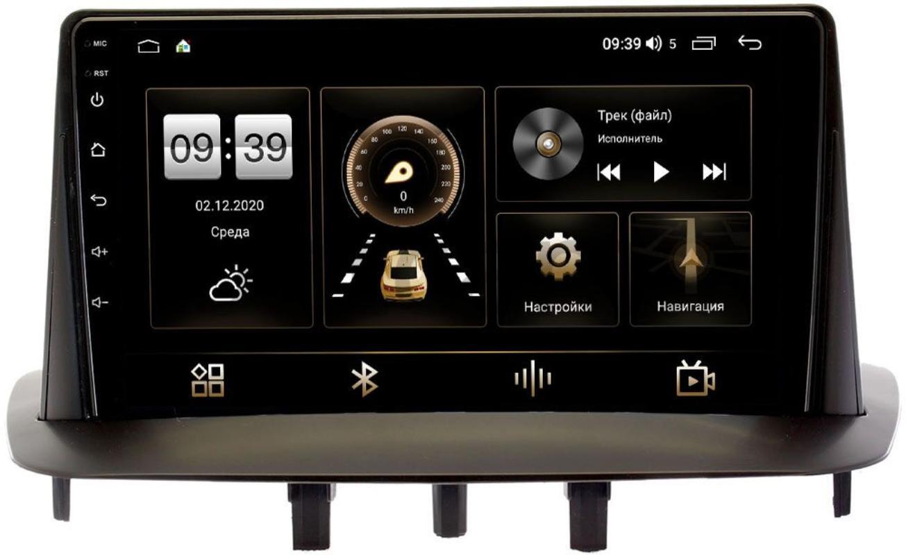 Штатная магнитола LeTrun 4166-9215 для Renault Megane III, Fluence I 2009-2016 на Android 10 (4G-SIM, 3/32, DSP, QLed) (+ Камера заднего вида в подарок!)