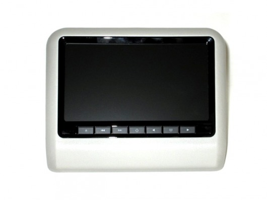 Навесной монитор на подголовник с диагональю 9 и встроенным DVD плеером ERGO ER9L (серый) power dvd проигрыватель скачать