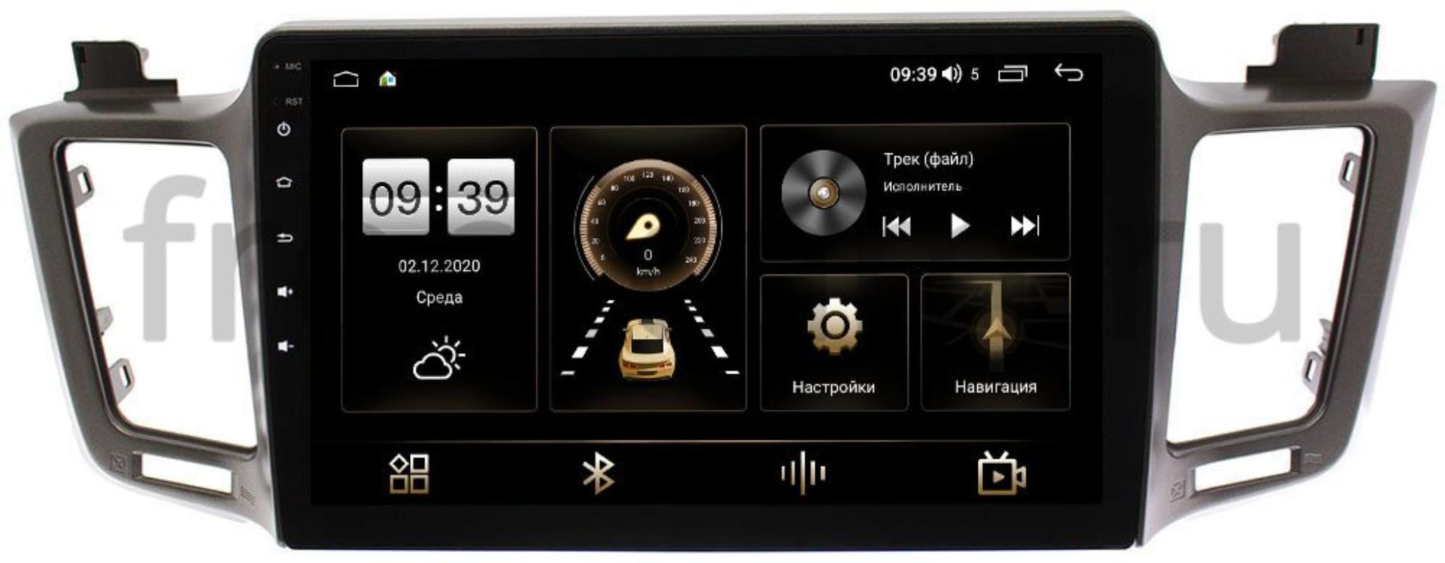 Штатная магнитола LeTrun 4195-1030 для Toyota RAV4 (CA40) 2013-2019 (для авто c 4 камерами) на Android 10 (6/128, DSP, QLed) С оптическим выходом (+ Камера заднего вида в подарок!)