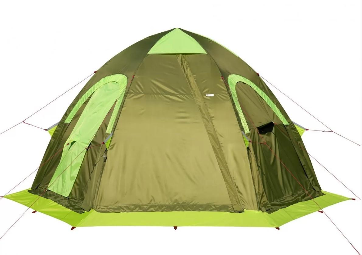 Всесезонная универсальная палатка Лотос 5УТ Шторм (оливковый цвет) (+ Дарим комплект ввертышей для палаки.) палатка кемпинговая 4 х местная norfin pollan 4 nf дарим комплект ввертышей для палаки