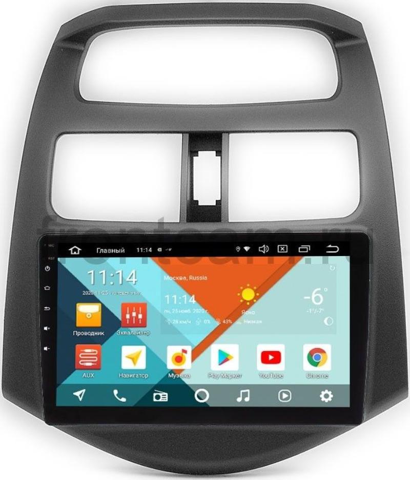 Штатная магнитола Chevrolet Spark III 2009-2016 (матовая) Wide Media KS9-180QR-3/32 DSP CarPlay 4G-SIM Android 10 (API 29) (+ Камера заднего вида в подарок!)