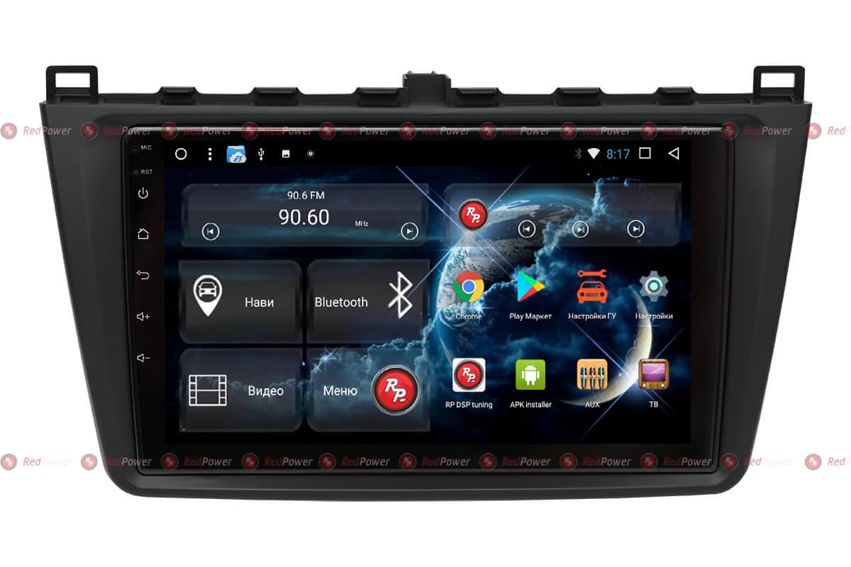 Автомагнитола для Mazda 6 (2009-2013) RedPower 51002 R IPS DSP ANDROID 8+ (+ Камера заднего вида в подарок!)