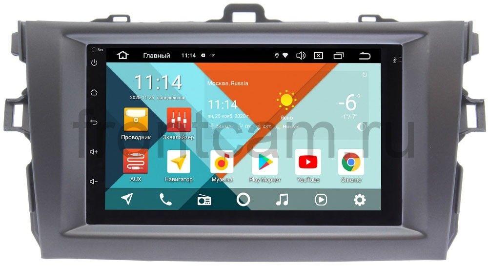 Штатная магнитола Toyota Corolla X 2006-2013 (темно-серая) Wide Media MT7001PK-2/16-RP-TYCV14Xc-11 на Android 9.1 (DSP 3G-SIM) (+ Камера заднего вида в подарок!)