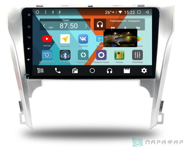 Штатная магнитола Parafar с IPS матрицей для Toyota Camry V50 на Android 8.1.0 (PF131K) штатная магнитола incar tsa 2243 для toyota camry 2014 2015 android 8 0