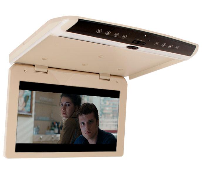 Автомобильный потолочный монитор 17.3 со встроенным Full HD медиаплеером ERGO ER173FH (бежевый)Ergo<br>Ergo ER173FH (бежевый). Потолочный монитор ERGO ER173FH оборудован встроенным медиаплеером, оснащен USB/HDMI/AV разъемами для подключения внешних носителей. Диагональ экрана 17.3, разрешение цифровой матрицы 1920х1080.Толщина всего 3 сантиметра! Цвет бежевый.<br>