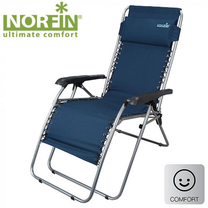 Кресло-шезлонг Norfin SOMERO NFLКемпинговая мебель и аксессуары<br>Кресла для любителей рыбалки<br><br><br> Карк.сталь22мм/разм.54x53x53/117см/вес9,2кгнагр.120кг/тр.разм.71,5x12x98