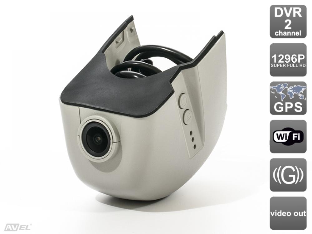 Штатный двухканальный автомобильный Ultra HD (1296P) видеорегистратор AVS400DVR (#108) для AUDI (серый)