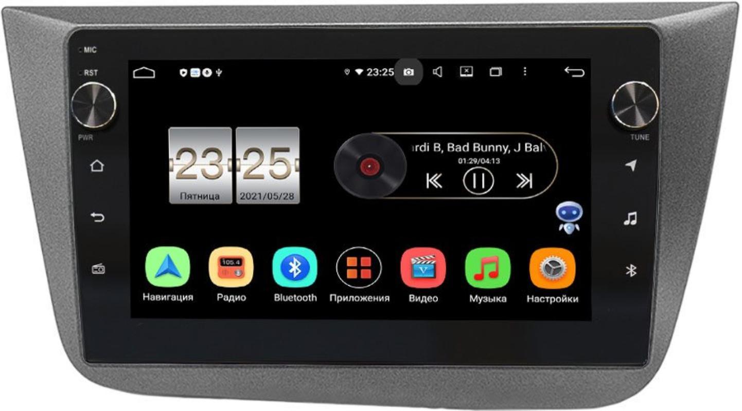 Штатная магнитола LeTrun BPX409-582 для Seat Altea I 2004-2015 на Android 10 (4/32, DSP, IPS, с голосовым ассистентом, с крутилками) (+ Камера заднего вида в подарок!)