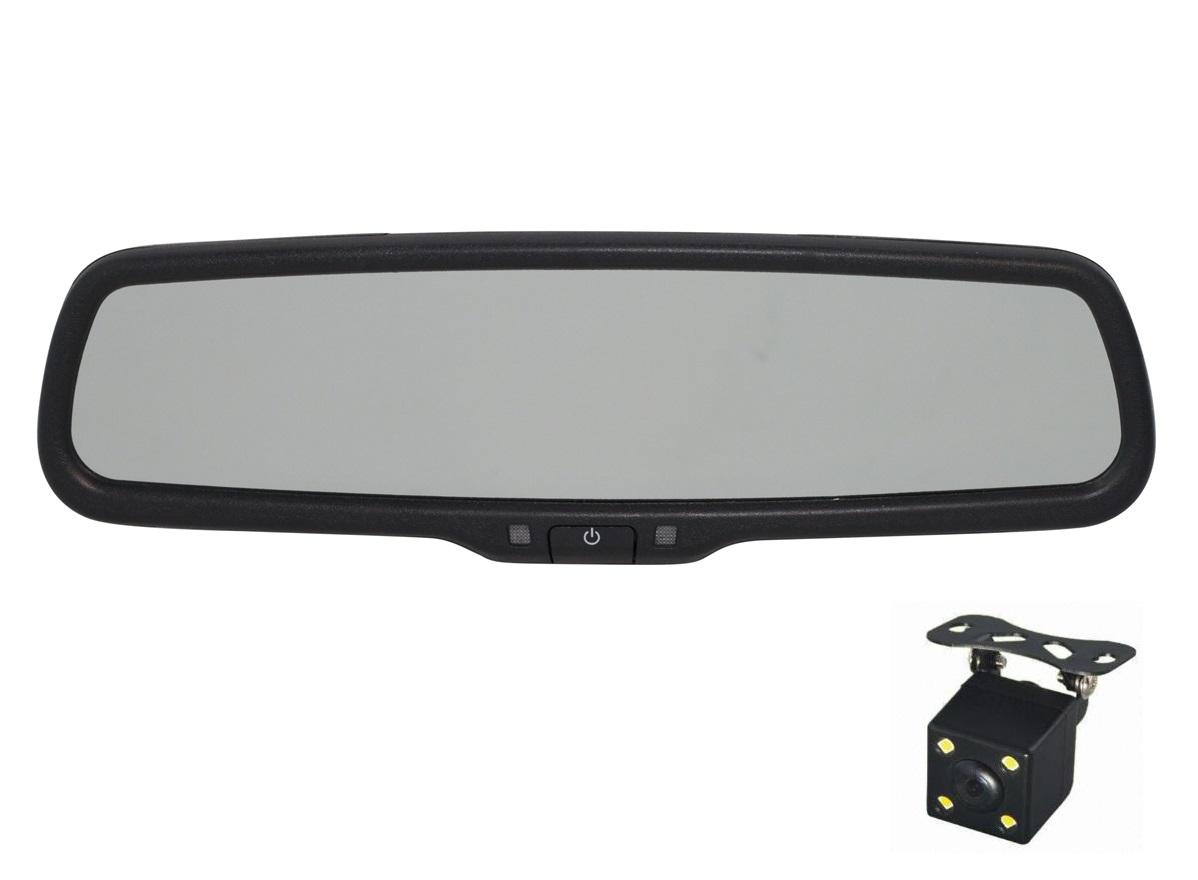 Зеркало видеорегистратор Redpower MD43 NEW для автомобилей Renault Koleos, Kaptur и Nissan Almera Classic без датчика дождя (крепление №19)