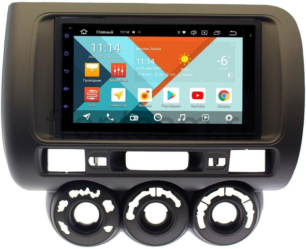 Штатная магнитола Honda Fit I 2001-2008, Jazz I 2001-2008 (правый руль, с кондиционером) Wide Media KS7115QR-3/32 DSP CarPlay 4G-SIM Android 10 (+ Камера заднего вида в подарок!)