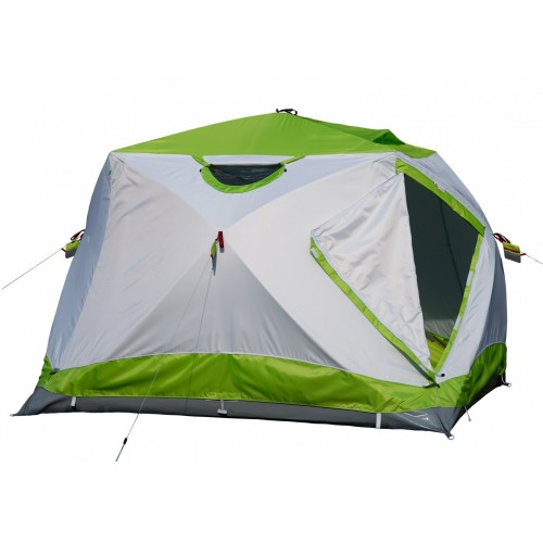 Зимняя палатка Лотос Куб 4 Компакт Термо (лонг) (+ Дарим комплект ввертышей для палаки.) палатка talberg hunter 4 pro