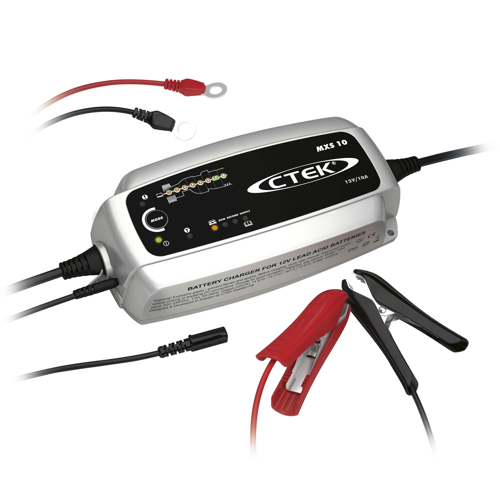 Зарядное устройство Ctek MXS 10 (8 этапов, 20-300Aч, 12В)