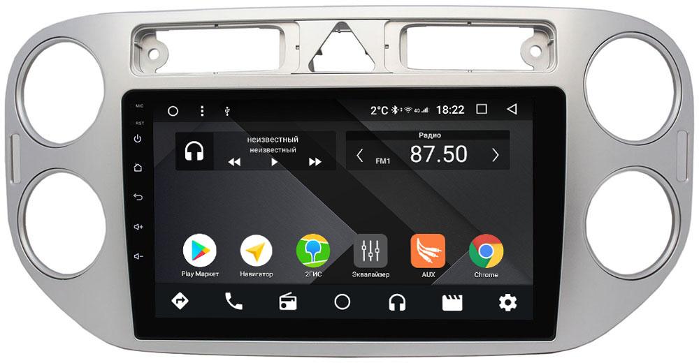 Штатная магнитола Volkswagen Tiguan 2007-2011, Golf Plus 2004-2014 Wide Media CF9048-OM-4/64 на Android 9.1 (TS9, DSP, 4G SIM, 4/64GB) (+ Камера заднего вида в подарок!)