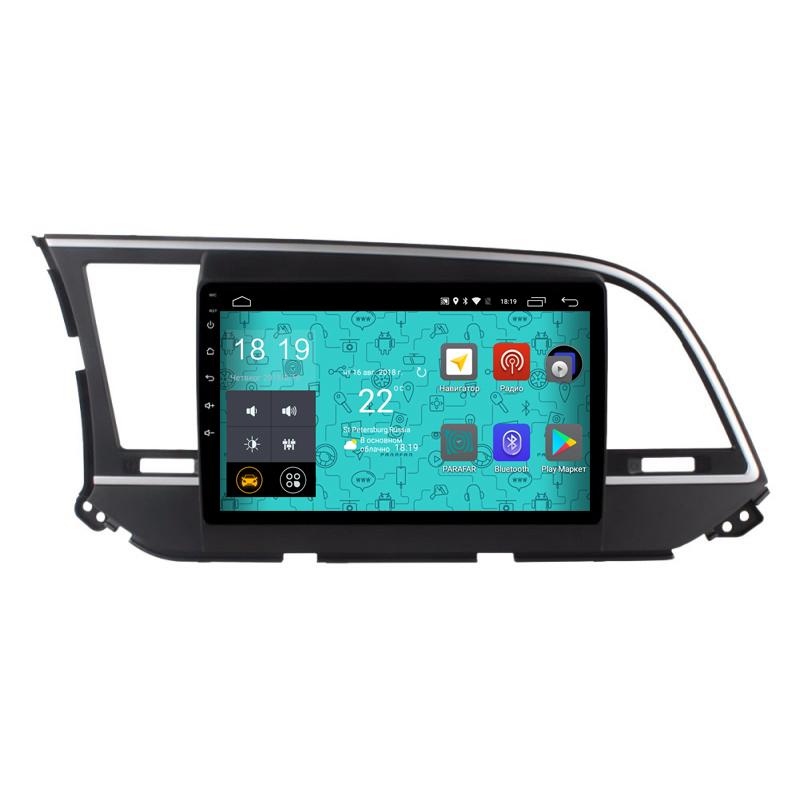 Штатная магнитола Parafar 4G/LTE с IPS матрицей для Hyundai Elantra 6 2016+ на Android 7.1.1 (PF581) штатная магнитола daystar ds 7067hd hyundai elantra 2013 android 8 1 0 8 ядер 2gb озу 32gb памяти