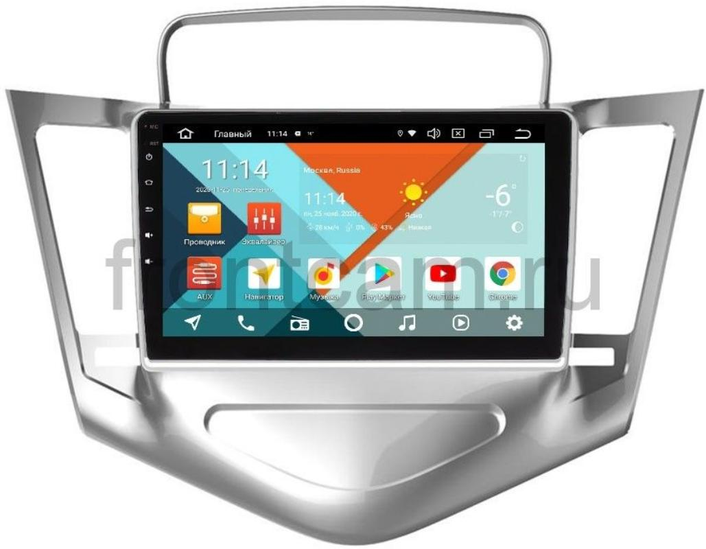 Штатная магнитола Wide Media KS9-128QR-3/32 DSP CarPlay 4G-SIM для Chevrolet Cruze I 2009-2012 (серебро) на Android 10 (+ Камера заднего вида в подарок!)