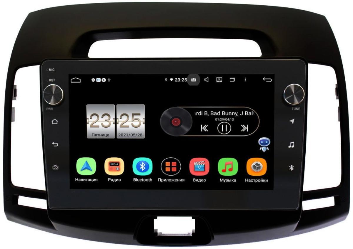 Штатная магнитола LeTrun BPX409-680 для Hyundai Elantra IV (HD) 2006-2011 (черная) на Android 10 (4/32, DSP, IPS, с голосовым ассистентом, с крутилками) (+ Камера заднего вида в подарок!)
