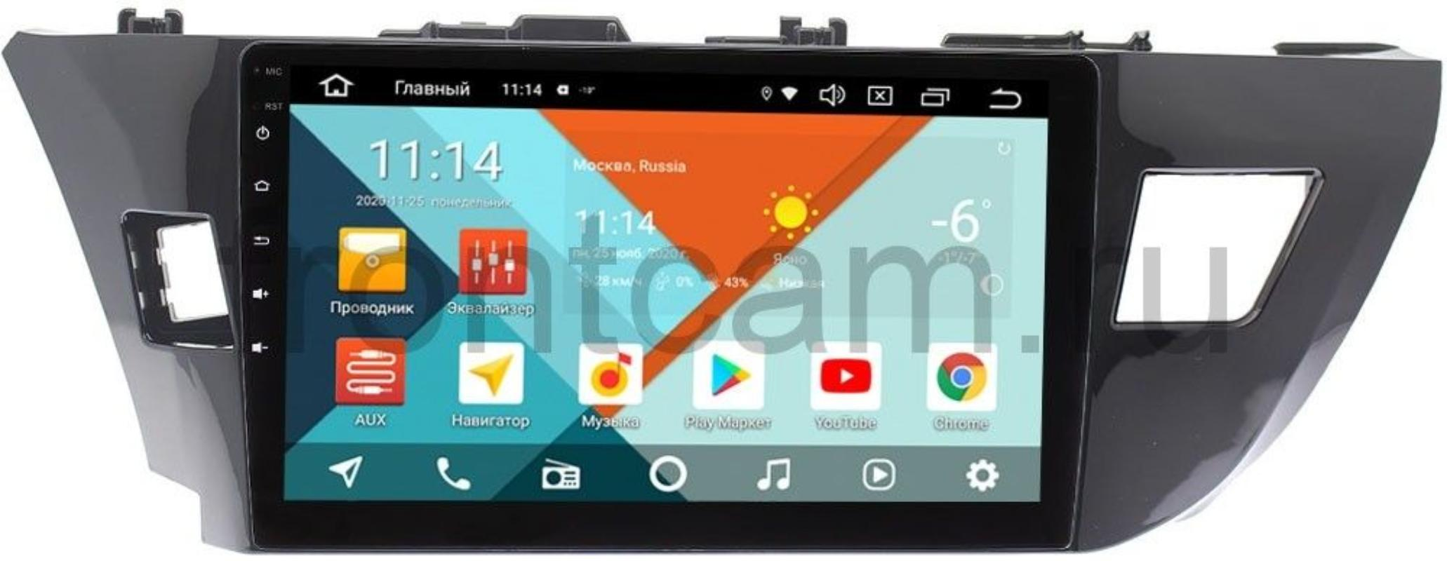 Штатная магнитола Toyota Corolla XI 2013-2015 Wide Media KS1005QM-2/32 DSP CarPlay 4G-SIM на Android 10 (для авто без камеры) (+ Камера заднего вида в подарок!)