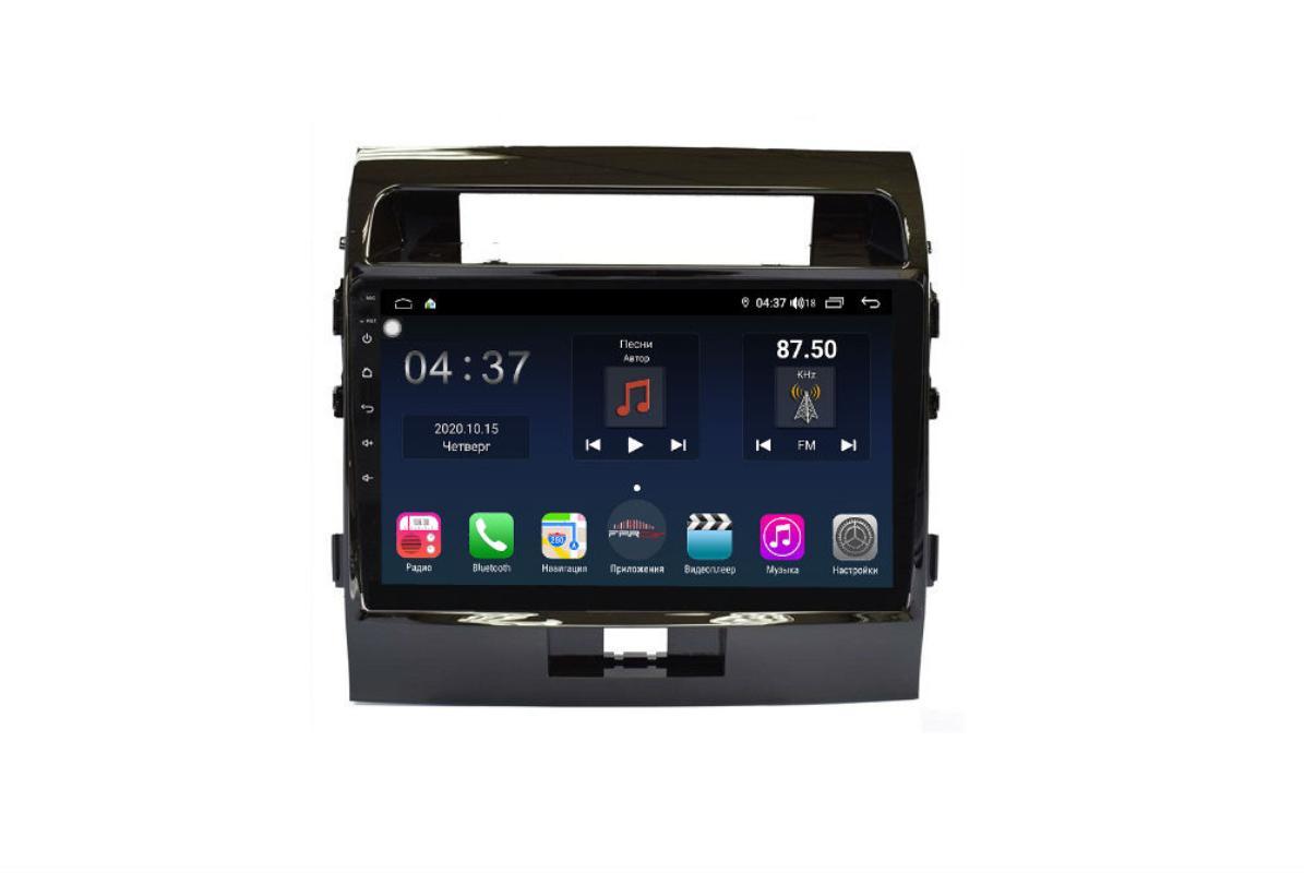 Штатная магнитола FarCar s400 для Toyota Land Cruiser 200 на Android (TG381R) (+ Камера заднего вида в подарок!)
