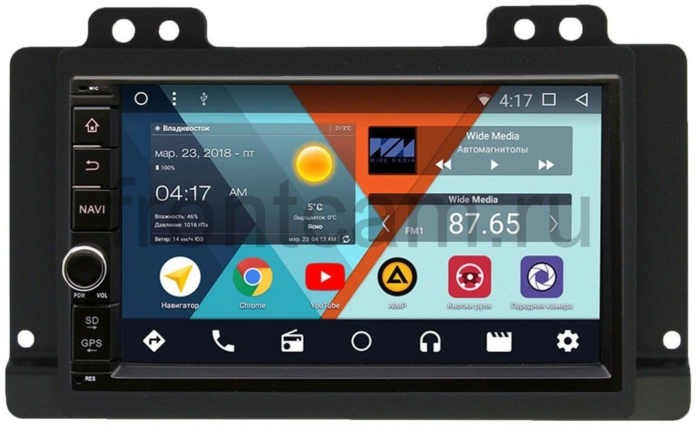 Штатная магнитола Wide Media WM-VS7A706NB-1/16-RP-LRUN-26 для Land Rover Freelander I 2003-2006 Android 7.1.2 (+ Камера заднего вида в подарок!) штатная магнитола wide media wm vs7a706nb rp tyav25xc 09 для toyota avensis ii 2003 2008 android 7 1 2