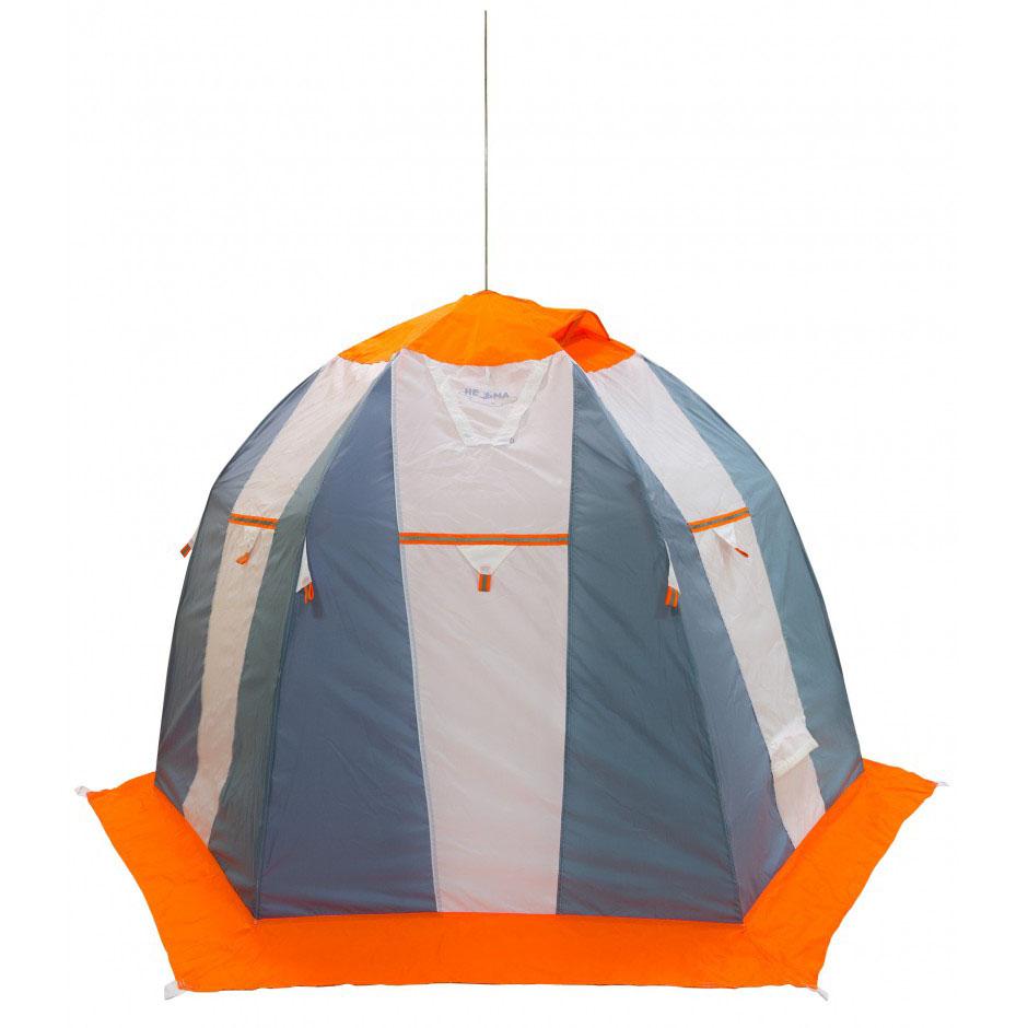 Палатка рыбака Митек Нельма 2 (оранжево-белый/сероголубой) (+ Дарим комплект ввертышей для палаки.)