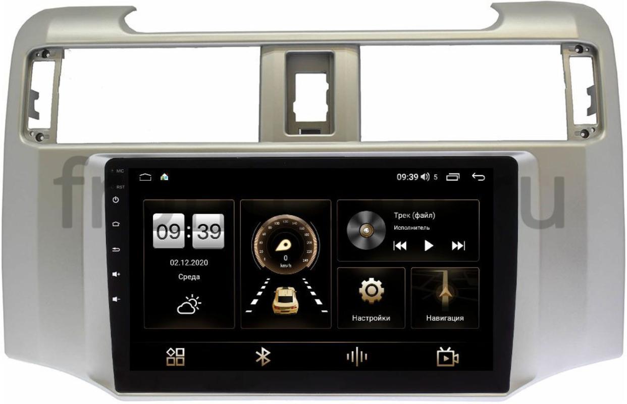 Штатная магнитола LeTrun 4166-9380 для Toyota 4Runner V 2009-2021 на Android 10 (4G-SIM, 3/32, DSP, QLed) (+ Камера заднего вида в подарок!)