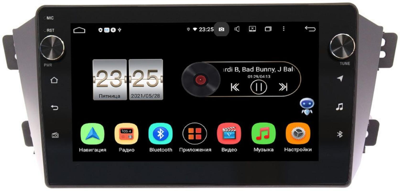 Штатная магнитола LeTrun BPX609-9055 для Geely Emgrand X7 2011-2018 на Android 10 (4/64, DSP, IPS, с голосовым ассистентом, с крутилками) (+ Камера заднего вида в подарок!)