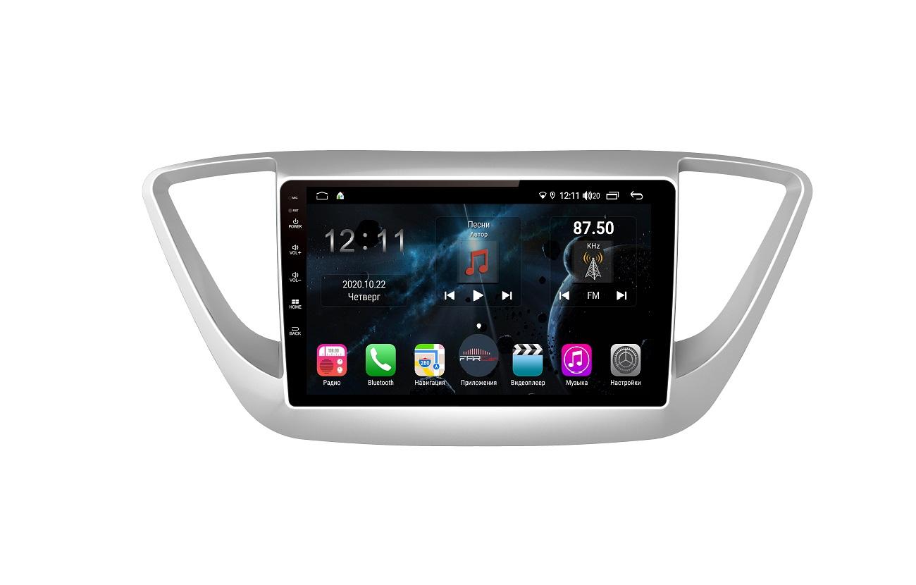 Штатная магнитола FarCar s400 для Hyundai Solaris на Android (H766R) (+ Камера заднего вида в подарок!)