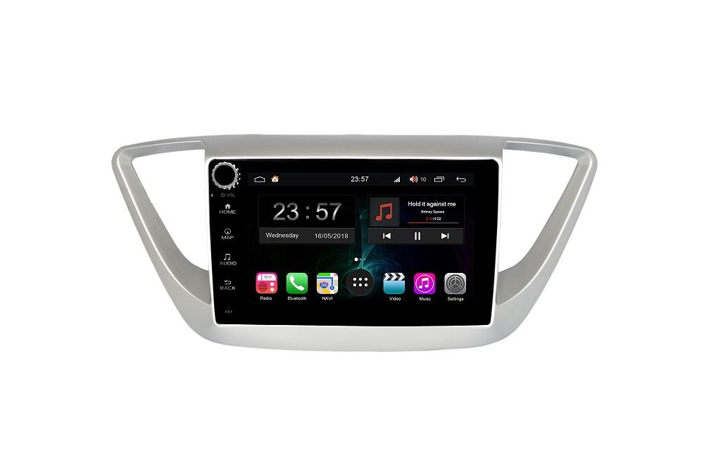 Штатная магнитола FarCar s300-SIM 4G для Hyundai Solaris на Android (RG766RB) (+ Камера заднего вида в подарок!)
