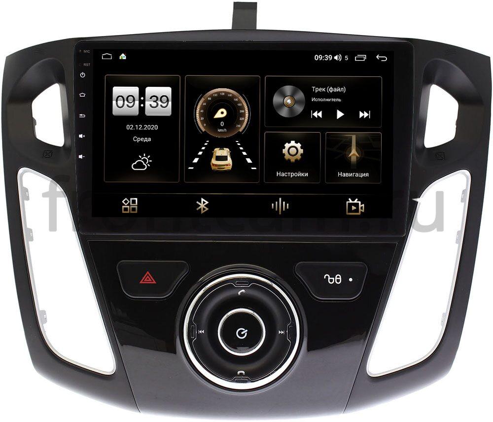 Штатная магнитола LeTrun 4166-9246 для Ford Focus III 2011-2018 (тип 2) на Android 10 (4G-SIM, 3/32, DSP, QLed) (+ Камера заднего вида в подарок!)