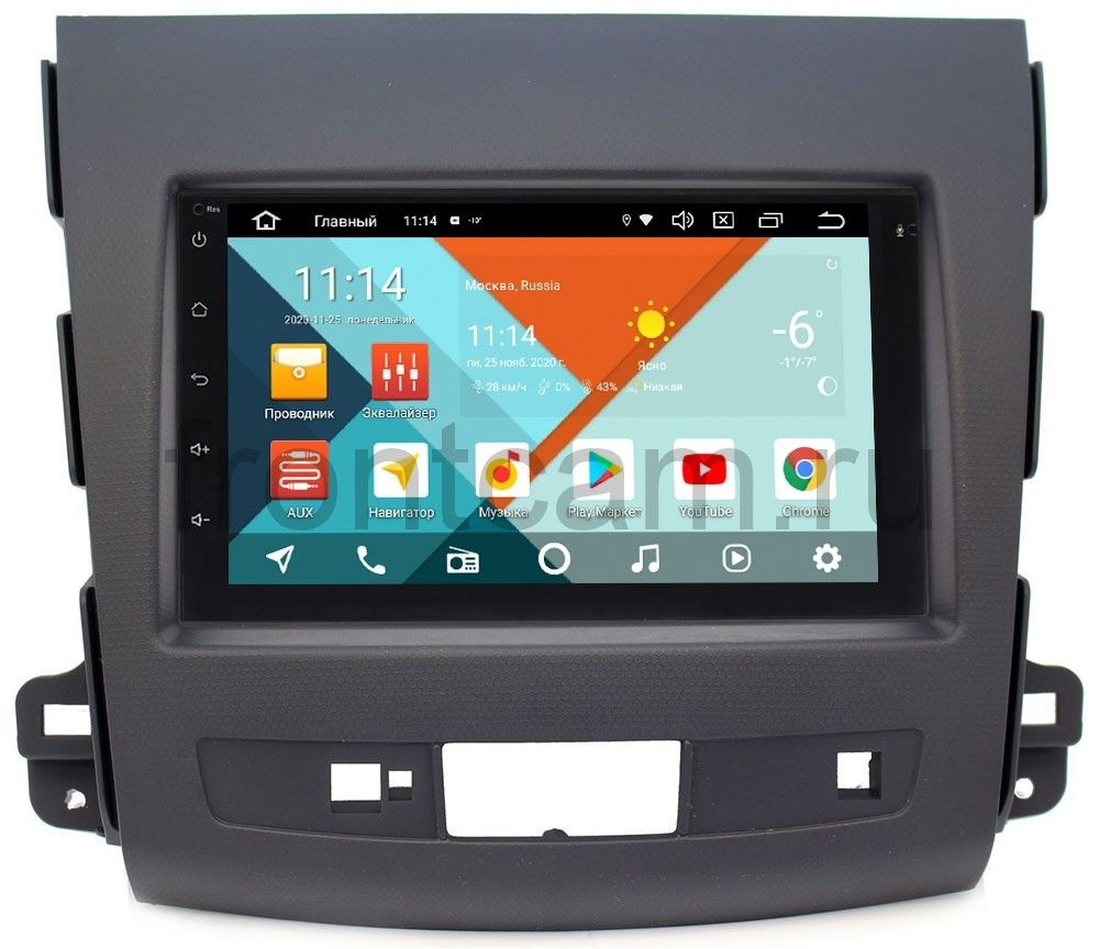 Магнитола в штатное место 2 din Peugeot 4007 2007-2012 Wide Media MT7001PK-2/16-RP-MMOTBN-84 на Android 9.1 (DSP 3G-SIM) (+ Камера заднего вида в подарок!)