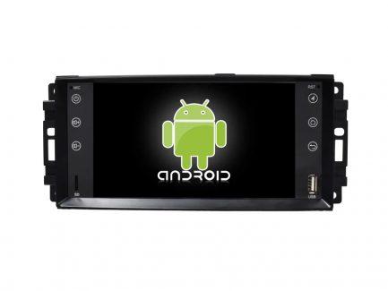 Штатная магнитола для DODGE JEEP CHRYSLER CARMEDIA KR-7145-T8 на Android 7.1 (+ камера заднего вида) штатная магнитола carmedia ol 9256 9 tesla style c600 jeep cherokee 2014