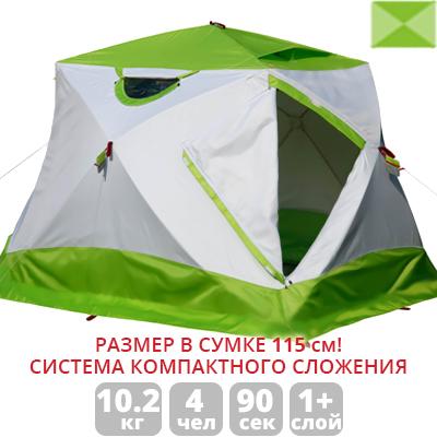 Зимняя палатка Лотос Куб 4 Компакт (лонг) (+ Дарим комплект ввертышей для палаки.)