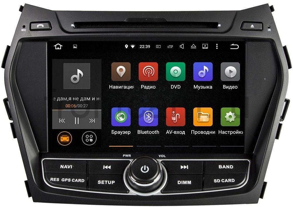 Штатная магнитола Jencord JC-798 для Hyundai Santa Fe (2013+) Android 5.1 штатная магнитола redpower 31210 ips hyundai santa fe iii dm 2012