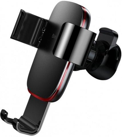 Автомобильный держатель для телефона в дефлектор Baseus Metal Age Gravity - Черный (SUYL-D01)