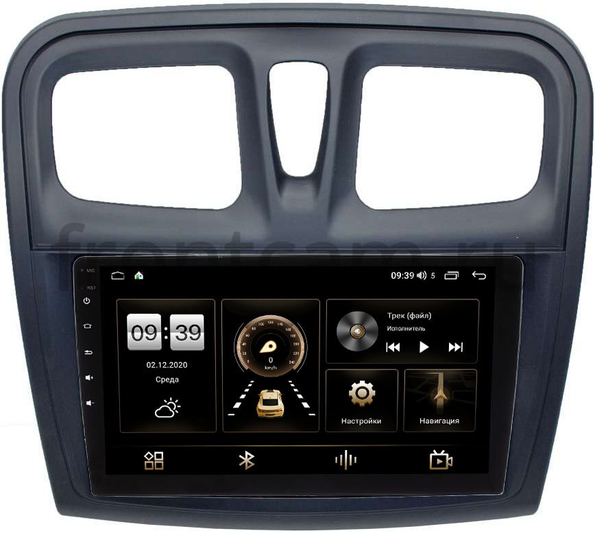 Штатная магнитола Renault Logan II 2013-2020, Sandero II 2013-2020 LeTrun 4166-9-3010 на Android 10 (4G-SIM, 3/32, DSP, QLed) (+ Камера заднего вида в подарок!)