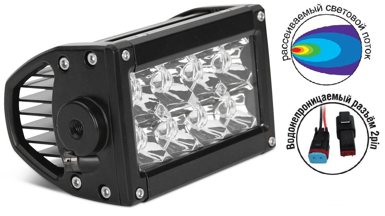 Светодиодные фары OFF-Road AVS Light FL-1610 (24Вт)  + провода