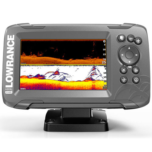 Эхолот Lowrance HOOK2-5 SplitShot US COASTAL/ROW (+ Аккум + З/У + Струбцина + Сумка)