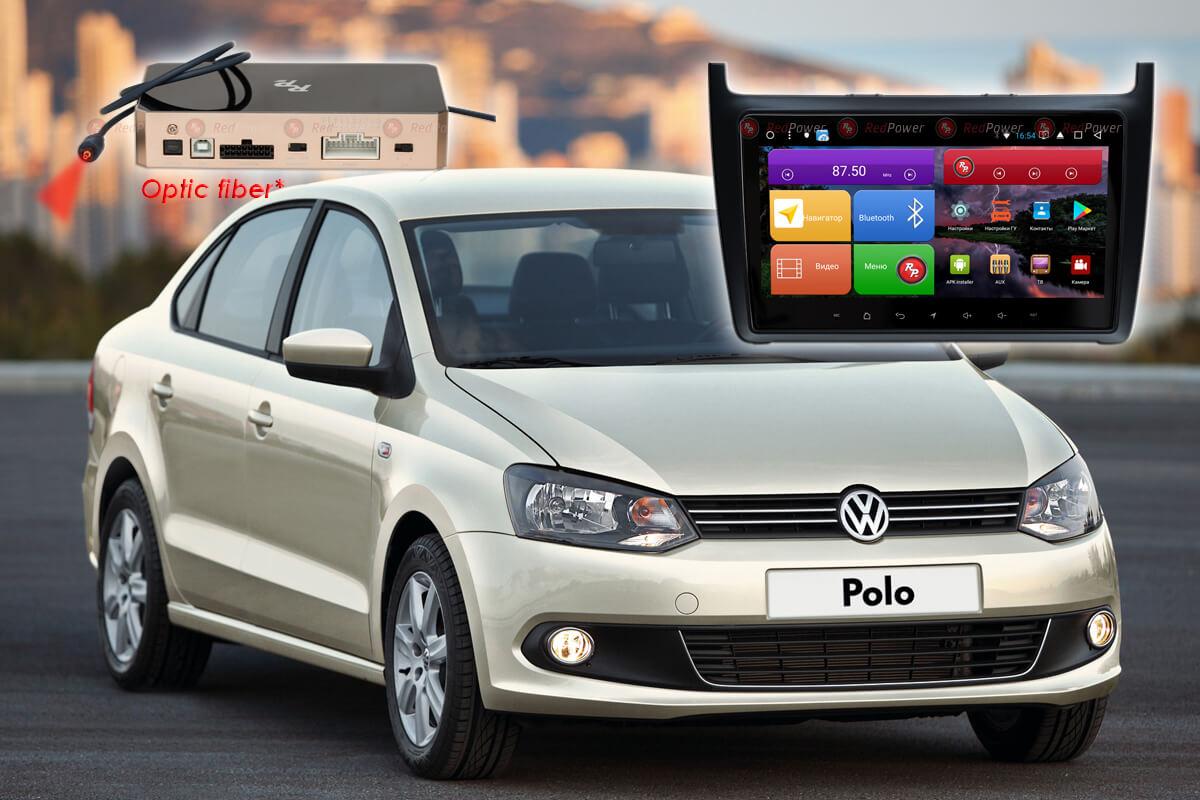 Автомагнитола для Volkswagen Polo RedPower K 51134 R IPS DSP ANDROID 8+ (+ Камера заднего вида в подарок!)