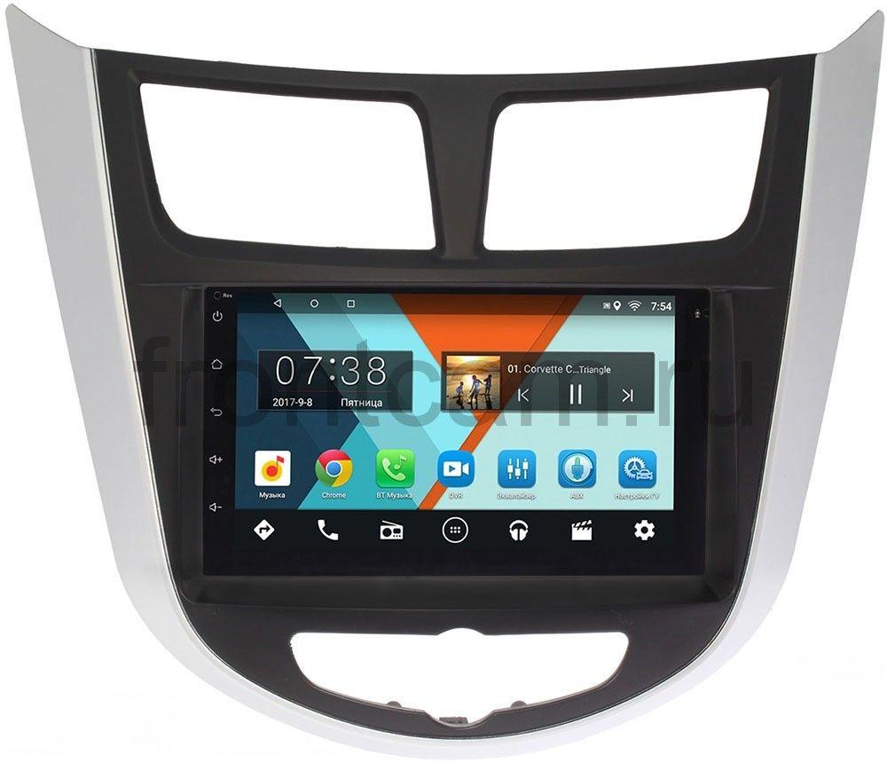 Штатная магнитола Hyundai Solaris I 2011-2017 Wide Media MT7001-RP-HDSL-19 на Android 7.1.1