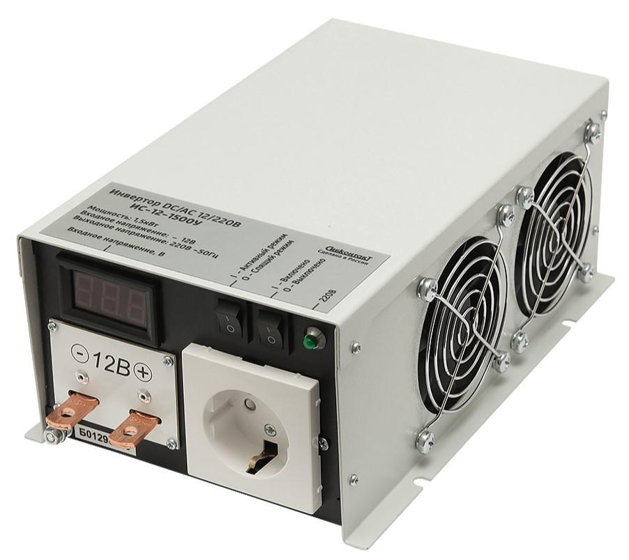 Инвертор СибКонтакт ИС-12-1500 DC-AC (+ Автомобильные коврики в подарок!)