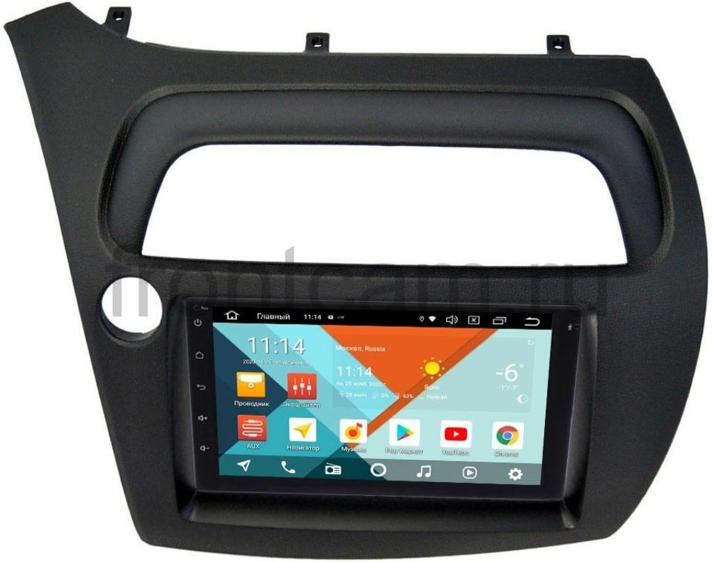 Магнитола в штатное место 2 din Honda Civic 8 5D Wide Media KS7001QR-3/32-RP-HNCV5D-100 на Android 10 (DSP CarPlay 4G-SIM) (+ Камера заднего вида в подарок!)