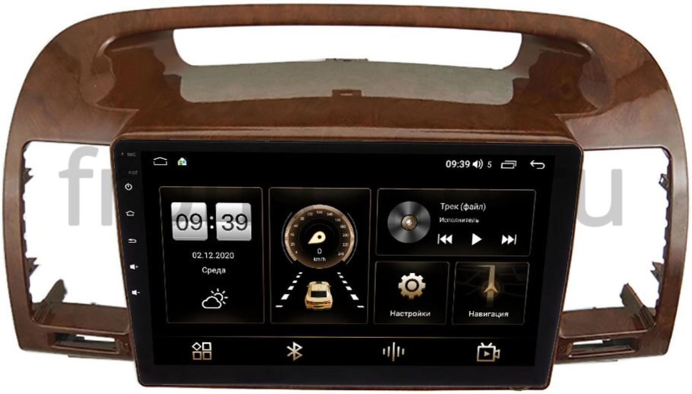 Штатная магнитола Toyota Camry V30 2001-2006 (под дерево) LeTrun 4196-9-961 на Android 10 (6/128, DSP, QLed) С оптическим выходом (+ Камера заднего вида в подарок!)